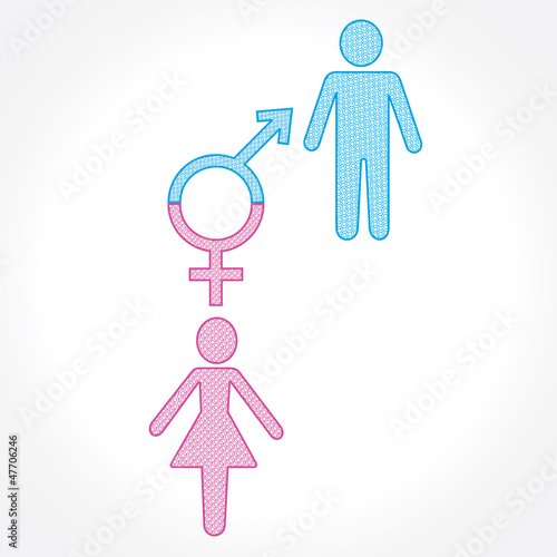 male and female show equality stock vector