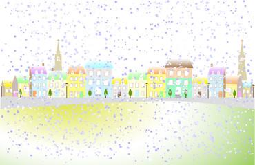 町に降る雪