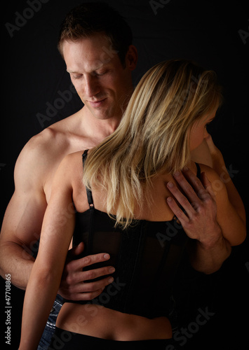 Loving caucasian couple