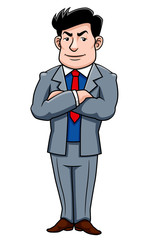 illustration Super businessman cartoon