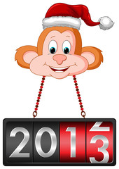 Monkey Hanging 2013 Countdown Tag