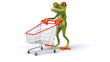 Fun frog shopping