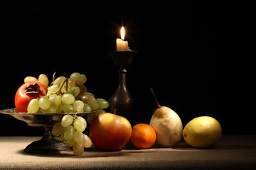 Fruits And Candle