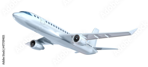 Commercial airplane concept. My own design. Isolated on white