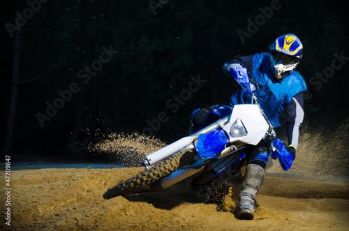 Foto op Plexiglas Motorsport Enduro bike rider