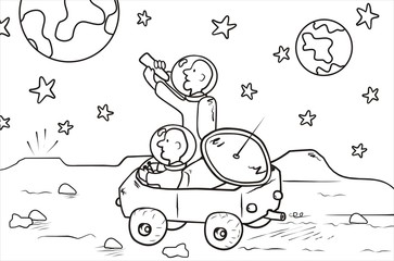 moon rover - coloring book