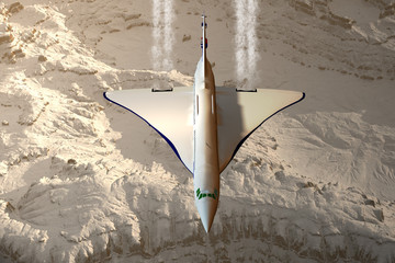 Concorde beim Überflug der Alpen