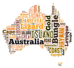Word Cloud of Australia Maps