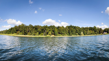 Lanskie Lake on Masuria region in Poland