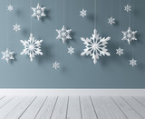 snowflakes in room