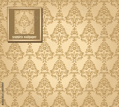 Seamless vintage background in brown