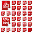 Rabatt Sticker Kollektion - Reduziert - Viereck - Rot