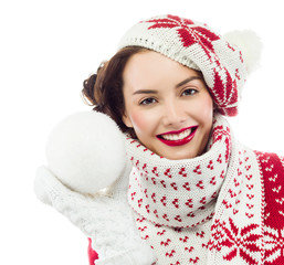 woman winter