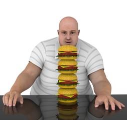 Hombre Mirando comida