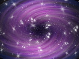 Fototapety Violet cosmic whirl background with stars