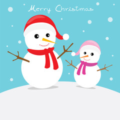 Snow Man Card