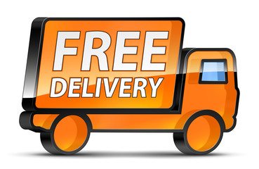 Free_Delivery_Orange_Truck