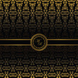 Vintage seamless wallpaper with ribbon