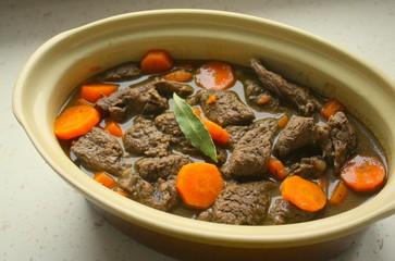 boeu bourguignon aux carottes
