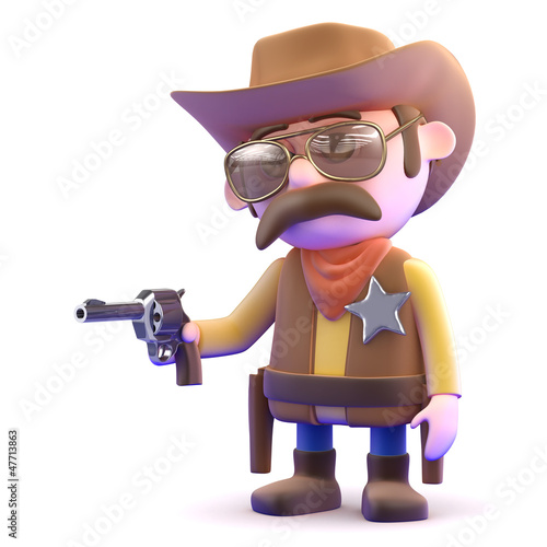 Aluminium Wild West Cowboy quick draw
