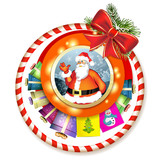 Christmas with gifts and Santa