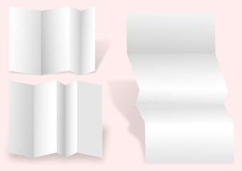 Three blank white writing paper as an illustration