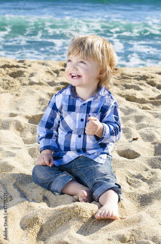 A nice boy on the beach