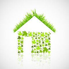 green eco house vector illustration
