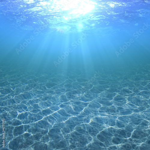 Clear, pure and transparent water in a swimming pool