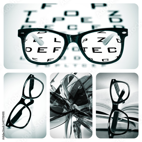 eyeglasses collage