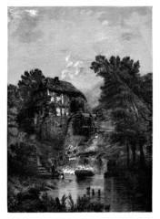 Water Mill - Moulin à eau - Wassermühle - 19th century
