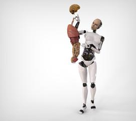 humanoide y parte anatomica humana