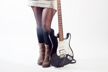 Femme et sa guitare