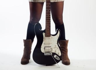 Femme qui aime le rock