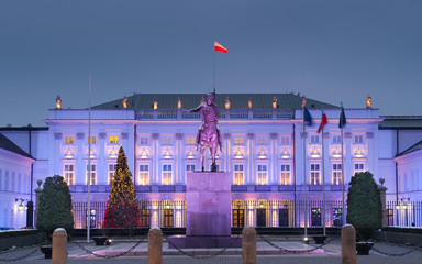 Polish President Palace in Warsaw, Poland