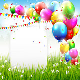 Fototapety Colorful birthday background with place for text