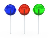 colored  lollipops