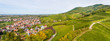 View of vineyards from Ortenberg castle. Germany