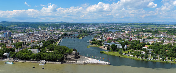 Panorama of Koblenz, Germany