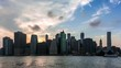 Night fall timelapse  of Manhattan in New York - USA