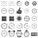 Set of watch icons - silhouette