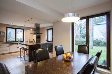 Travertine house - interior