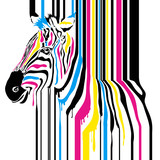 Modern abstract zebra cmyk concept