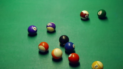 HD - Pool table. First shot