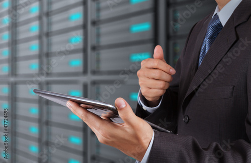 businessman hand using new technology