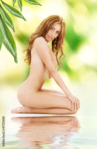 healthy naked woman