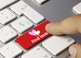 Find love keyboard key. Finger