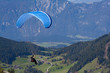 Paraglider in Austrian mountain