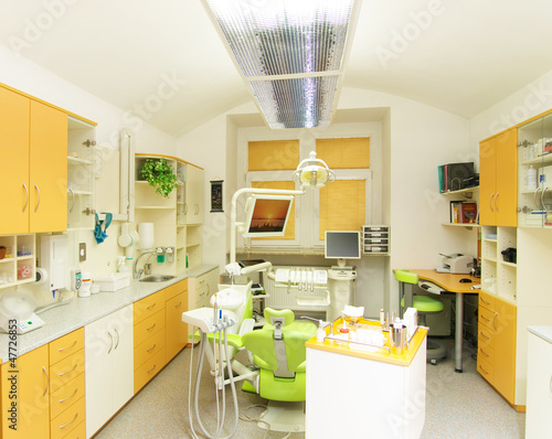 Modern consukting room in dental clinic