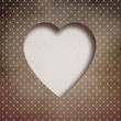 Valentine background: heart over retro texture